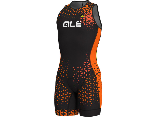 Alé Cycling Rush Olympic Tri Unitard Herrer, black-flou orange